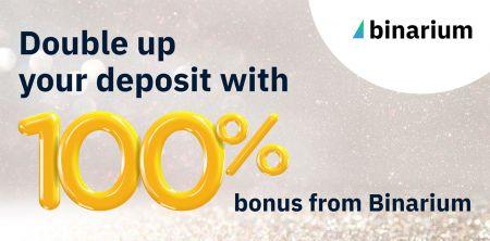 Binarium Bonus On Your First Deposit - 100% Bonus
